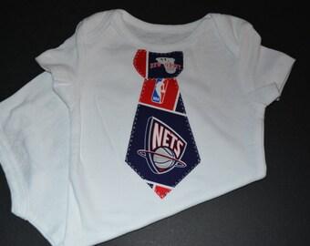 New Jersey Nets Children's Tie Bodysuit or T-Shirt