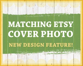Etsy cover photo - Get matching shop cover design - New Etsy shop design feature