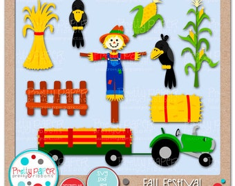 Fall Festival Cutting Files & Clip Art - Instant Download