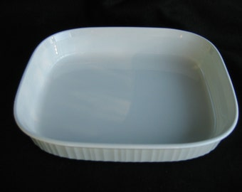 Vintage Corning Ware F-21-B French White Open Roaster or Casserole