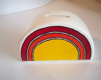 Red, Orange and Yellow Rainbow Coin Bank