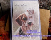 love's about ( a best friend's song ) pit bull mix cards/  journey cards/sentimental cards/unique empathy condolence cards