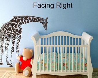 Sale LARGE Giraffe Baby Nursery Wall Decals Nursery  Vinyl Decal