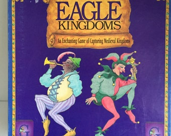 1994 Gamewright Eagle Kingdoms - An enchanting Game of Capturing Medieval Kingdoms