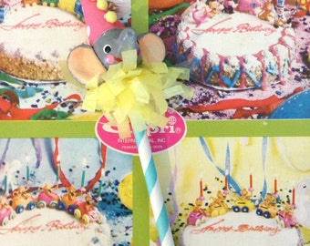 Single Elephant Cupcake Party Topper