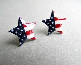 Our Stars and Stripes 4th of July Stud earrings