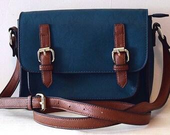 Vintage Turquoise Cross Body Shoulder Bag, Messenger Bag