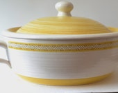 Gold Hacienda Franciscan Earthenware Large Covered Casserole Mid-Modern Pottery 1960s
