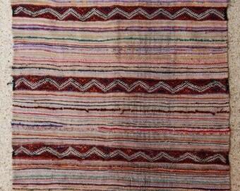 "245x130  cm ( 8.0"" x 4.3"") FREE SHIPPING worldwide KL27229 vintage berber kilim rug, flat rug, moroccan rugs , rag rug,morocco carpets"
