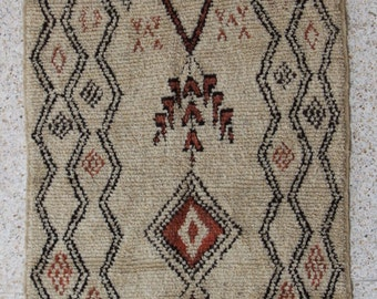 "245X125cm (8' 0""X4' 1""feet)FREE SHIPPING WORLDWIDE AZ26111 Azilal ,Ourika ,Beni Ourain vintage berber rug Morocco,wool carpet , boucherouite"