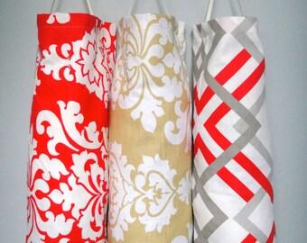 SALE 9.99 Plastic Bag Dispenser, Reusable Bag, Plastic grocery bag holder, Recycling Bag, Plastic Dispenser, Choose Your Fabric