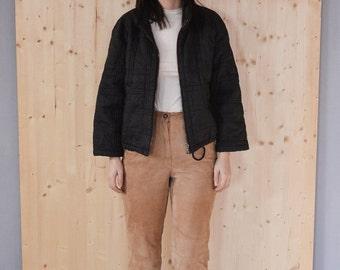SALE VERSACE brown quilted jacket Vintage 90S crop jacket