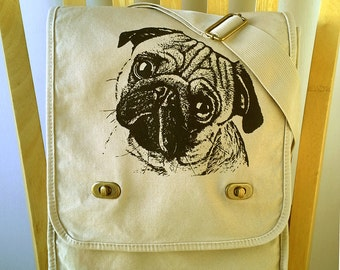 Pug Field Bag Dog Messenger Bag Laptop Bag Shoulder Bag