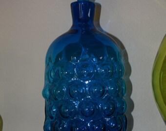 Blenko Bubble Decanter - Wayne Husted - Turquoise