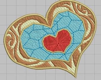 Zelda Machine Embroidery Design - Heart Container 4x4