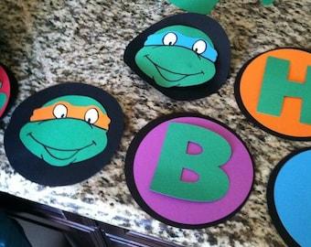 Custom Ninja Turtle Banner