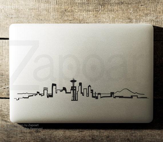Seattle Skyline Decal Laptop Car Decal iPad