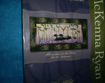 Calling Me Home Quilt, McKenna Ryan, Loons Wall Hanging Pattern.