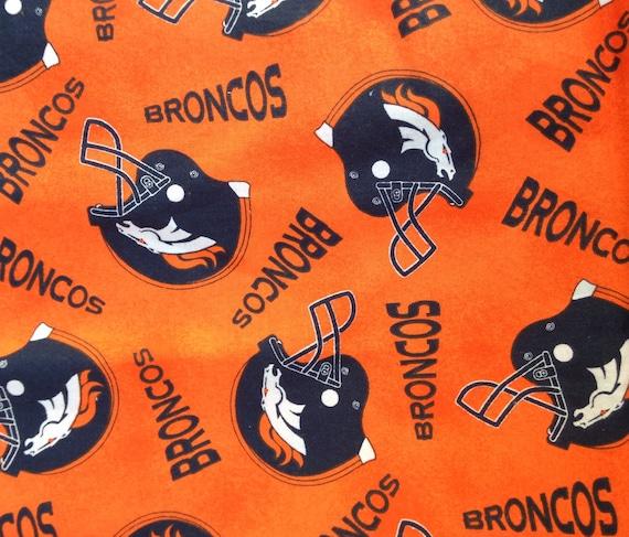 Denver Broncos Scrap Fabric // Orange And Blue // Superbowl 50