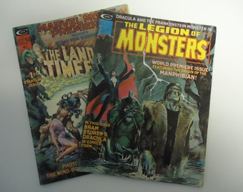 Vintage 1975 Stan Lee 1st issue Comics - The Land that time forgot AND The Legion of Monsters