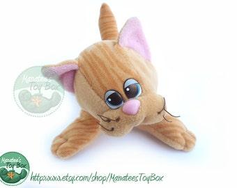 80s Pound Purrries Plush by Tonka: Tan Tabby Kitten 1980s Toy