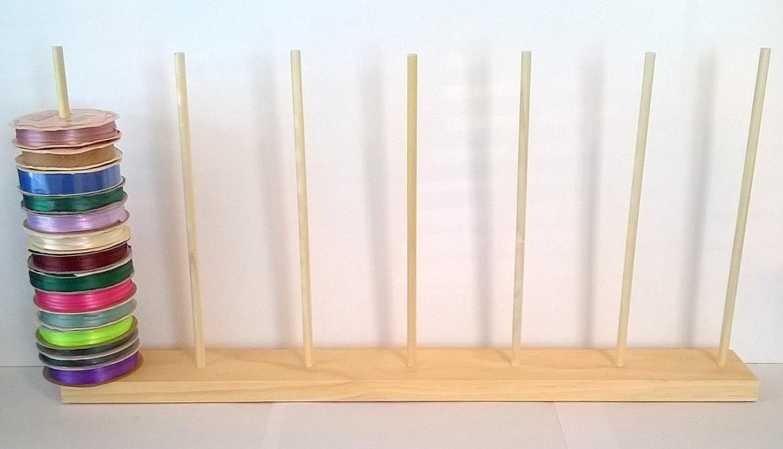Ribbon Spool Holder Storage Rack Organizer Holds By