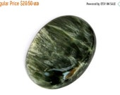 Seraphinite Cabochon Stone (29mm x 22mm x 5mm) 28.5cts - Oval Cabochon
