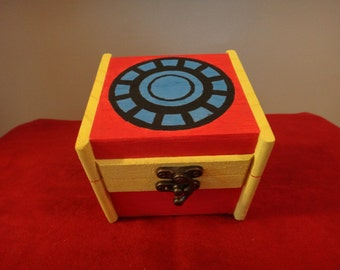 Custom Painted Wooden Keepsake Box - Iron Man V.1