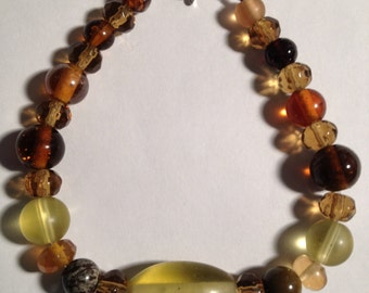 Fun & Funky: Handmade Glass Bead Bracelet-- Sale Price