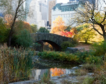 New York Photography, Central Park Prints, Autumn Art, Nature Photography, NYC Photography, Iconic NYC Art, Autumn at Gapstow Bridge