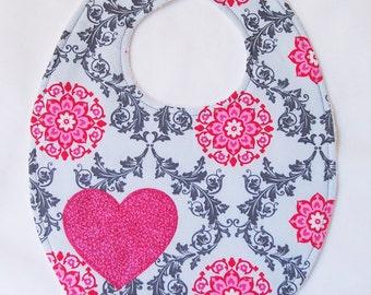 Pink Heart Bib