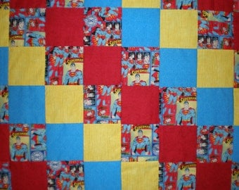 Superman Patchwork Quilt
