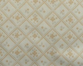 Polyester Double Knit Stretch Fabric - 3 Yards - Geometric - Vintage