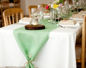 Rustic Home Decor Burlap Table Runner By