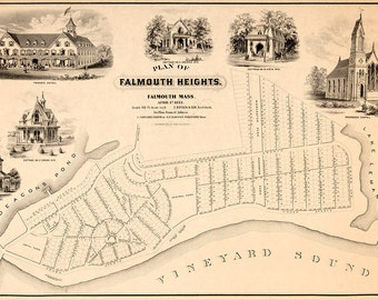 1873 Map of Falmouth Heights