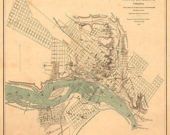 1864 Map of Richmond