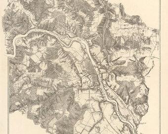 1867 Map of the Battle of Fredericksburg