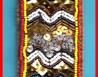 Epaulet Beaded Wristlet Patch  Bookmark Jewelry Costumes
