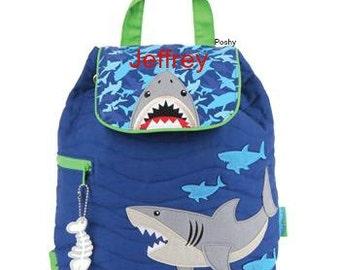 Personalized Boys Diaper Bag or Backpack Stephen Joseph Shark NEW