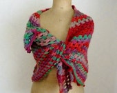 Crochet triangle scarf triangle shawl