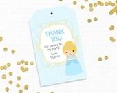 Personalized Printable Cinderella Favor Tag - Printable Tags for Cinderella Birthdays, Cinderella party printable .. cp03