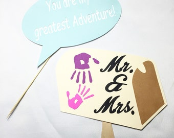 Up theme wedding props  photo booth props