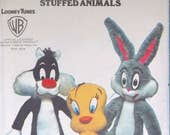 """Vintage Tweety, Sylvester, Bugs Bunny 36"""" to 42"""" Stuffed Animal Pattern Uncut and Factory Folded"""
