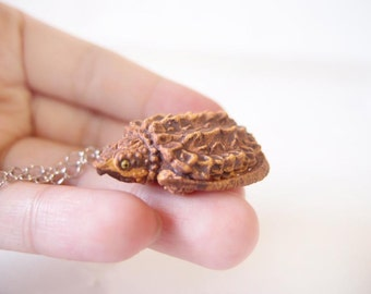Miniature tortoise necklace