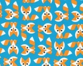 20 x 20 LAMINATED cotton fabric (aka oilcloth wipeable coated fabric) - Wide Eyed Foxes Organic