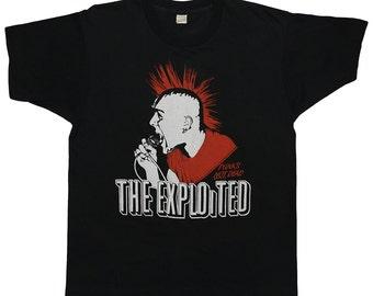 Exploited Shirt Vintage tshirt 1980s Punks Not Dead Wattie Buchan band punk rock tee 80s Original