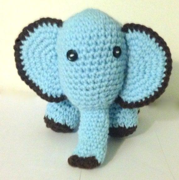 Crochet Amigurumi Elephant Ears : Crochet Stuffed Baby Elephant with big ears by ...