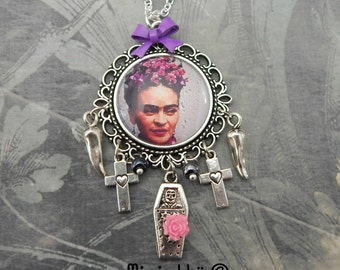 Necklace   Frida Kahlo gypsy bohemian