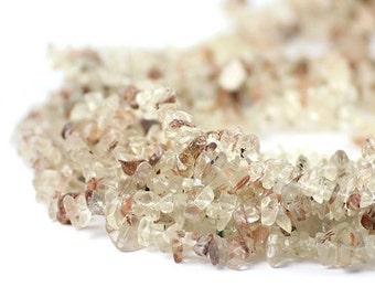 Oregon Sunstone Chip Beads Full Strand Champagne Schiller Ponderosa Semi Precious Gemstones