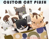 Custom Cat stuffed animal, Customized kitty cat plush, stuffy toy of your kitten, cats toy doll, personalized custom cat gift plushie clone